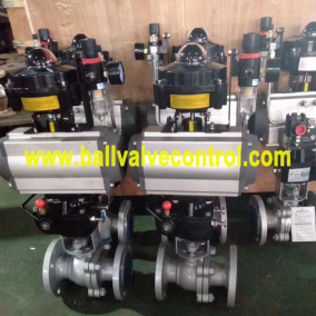 Carbon steel WCB Pneumatic ball valves