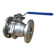 Cast stainless steel floating ball valve