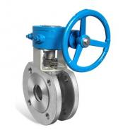Gear operated wafer type ball valve China