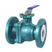 FEP PTFE PFA Lined ball valve factory and supplier