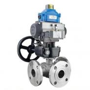 Double Acting Actuated 3 Way Ball Valve